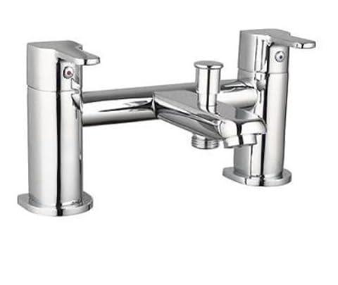 LUXURY LUNA WATERFALL LEVER BATH SHOWER MIXER TAP + SHOWER KIT