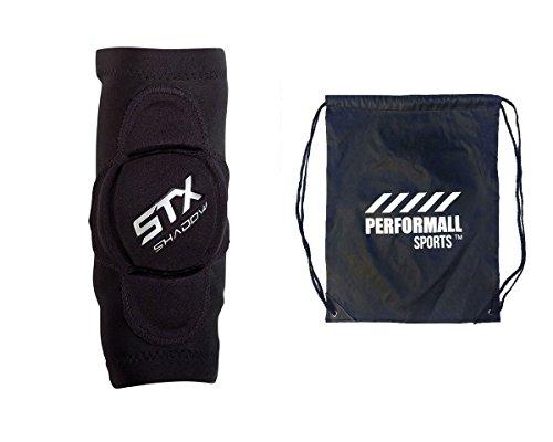 STX Bundle: Shadow Lacrosse Ellenbogen Gap Ärmel mit 1performall Sports Kordelzug Tasche, schwarz - Konturierte Kordelzug