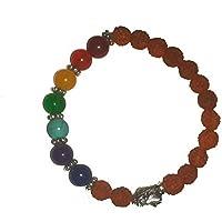IndianStore4All 8mm Edelstein & 5Mukhi Rudraksha + 1Budhha Perlen Chakra Armband, Yoga Armband Buddhistisches... preisvergleich bei billige-tabletten.eu