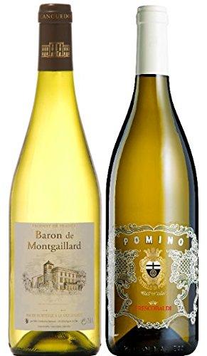 Italien-vs-Frankreich-Das-3er-Weisswein-geschenk-fr-besondere-AnlsseBaron-Montgaillard-Blanc-Pomino-Bianco-in-3er-Prsent-verpackung-Weidenkorb-Die-Alternative-zu-Sauvignon-Chardonnay-Riesling-zum-Gebu