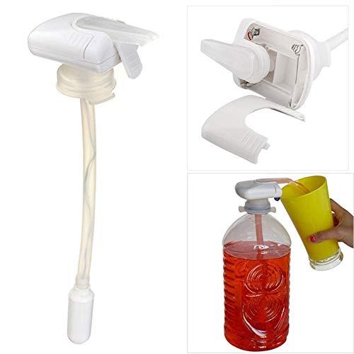 Dia de Lucy Dispensador automático de Bebidas Portátil Grifo de Agua eléctrico Jugo Compacto Leche Suck Tool Universal Dispensador de Bebidas (Color : White)