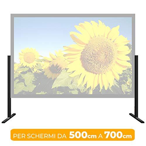 Regelbarer Boden für Displays von 500 cm bis 700 cm, Installation des Bodens 5 m 6 m 7 m (5 Schwarze Und Weiße 400 Film)