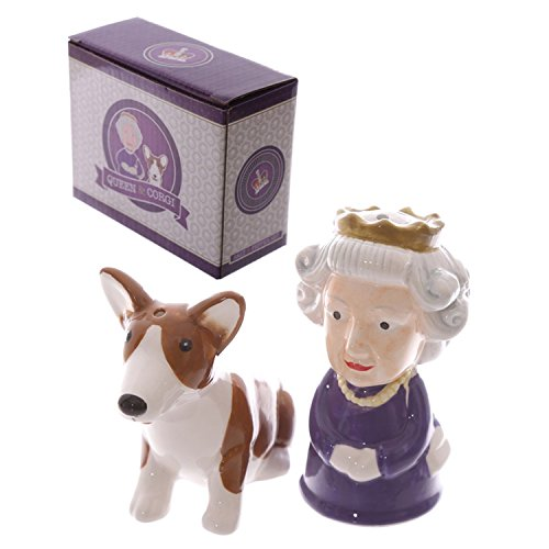 Image of Royal Queen And Corgi Salt And Pepper Set - One Size, Royal