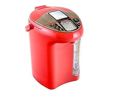 Thermo pot Bouteille-Bouilloire Electrique, 4,3 L Rouge, 750 W