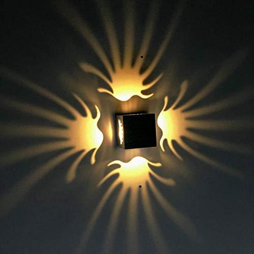 rlampe Wandspots Wirkung Hall Einfach Restaurant Palm Aluminium Lichteffekt Lichtleiste Ktv Effektlicht Dekoratives Licht Warmweiß 3W ()