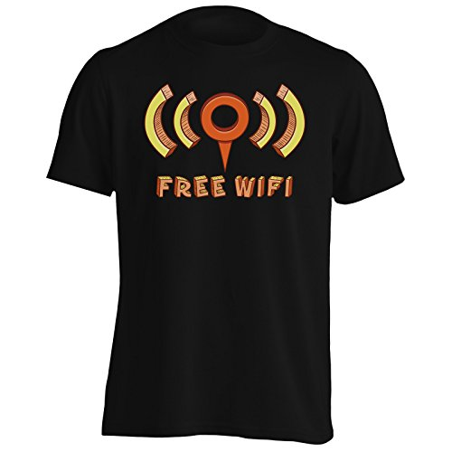 Nuova Libera Arte Online Di Wifi Uomo T-shirt l667m Black