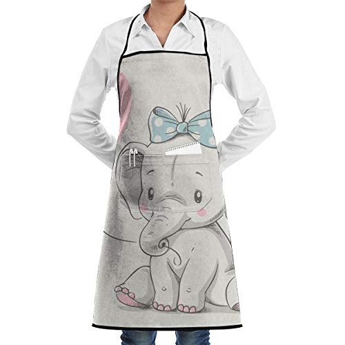 JOJOJOshop Design Lustige Schürze, niedlicher Elefant, zum Kochen, Backen, Gartenarbeit, Servieren, Reinigen, Malen - Niedliche Elefanten Kostüm