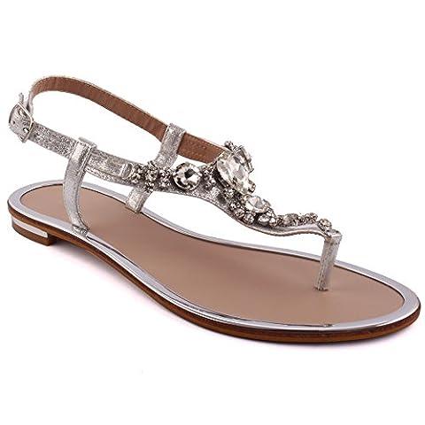 Unze Neue Frauen 'Coop' Diamante verschönert Sommer-Strand-Partei zusammen Carnival Casual Flache Sandalen Schuhe UK Größe 3-8 -