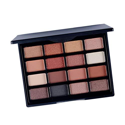 Aiming 16 Farben Lidschatten-Puder-Paletten-Augen-Mattschimmer-Glitter-Frauen-Mädchen-Verfassungs-Augen-Schatten-Puder -