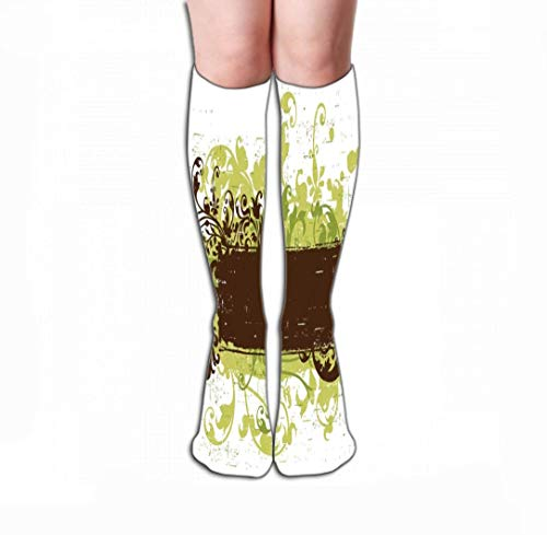 Kotdeqay High Socks Novelty Compression Long Socks for Women and Girls 19.7