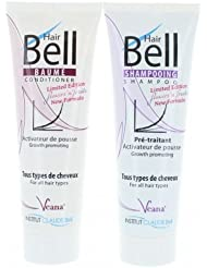 HairBell Shampoo + Conditioner - flowers'n'fruits (2x 250ml) - Neue Formel + Neuer Duft - HairJazz HairPlus