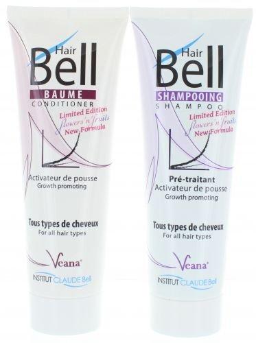 HairBell Shampoo + Conditioner - flowers'n'fruits (2x 250ml) - Neue Formel + Neuer Duft - HairJazz HairPlus (Männer Neue Tester)
