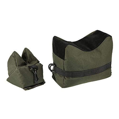 YIDAINLINE Vorderschaftauflage,Vorne & Hinten Gewehrauflage,Waffenauflage,Schießauflage Set für Gewehr/Luftgewehr Outdoor Üben (Grün)