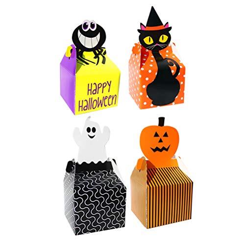 Niedliche Halloween Cupcakes - Toyandona 24 Stück Halloween-Cupcake-Boxen mit Kürbis-Geister-Deko,