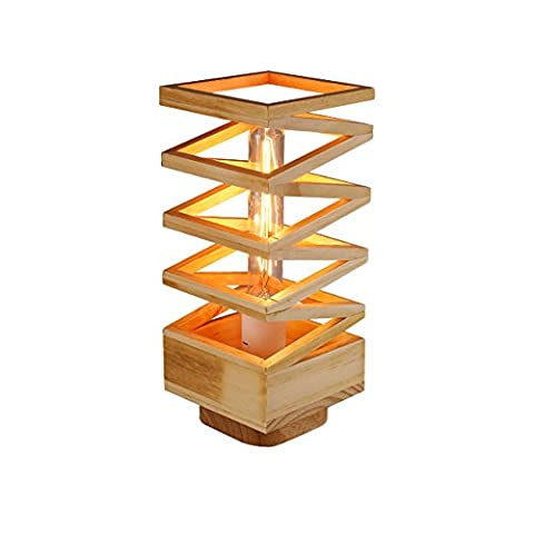 Solid Wood Desk Lamp-XCH Dazzling DL-E27 Creative Simple DIY Spring Modeling High Quality Solid Wood Lamp Body 110-240 Volt Voltage Nordic Style Creative Bedside Decorative Lights Size High 11