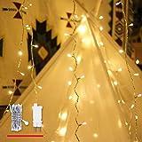 Lichterkette Strombetrieben, von myCozyLite®, 15m mit EU-Stecker, 100er Warmweiße LED für Innen und Außen Dekoration wie Weihnachten, Party, Garten, Hochzeit, ON/OFF Schalter mit Timer