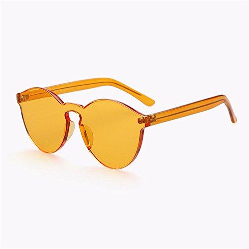 ZYPMM 2017 neue koreanische im Freiendamen Sonnenbrille männliche Plastiksonnenbrille Europa und die Vereinigten Staaten Tendenz Retro Gläser polarisiertes Licht ( Color : Orange )