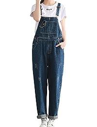 SiDiOU Group Donna Salopette Jeans Pantaloni di tuta di Harem dei pantaloni  del denim dei pantaloni 10d89e1caeb