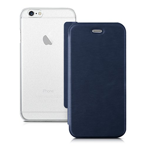Kwmobile cover per apple iphone 6 / 6s - custodia protettiva apribile a libro - flip case con sportellino per apple iphone 6 / 6s