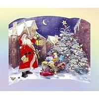 Santa Advent Calendar with Glitter
