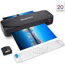 Blusmart Plastifieuse et Massicot A4, Chaud et à Froid avec Arrondisseur D'angles 3 en 1 Machine à Plastifier, 250mm/min Vitesse
