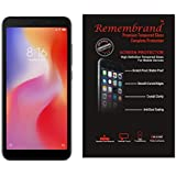 Remembrand 9H+ High Definition Tempered Glass for : Mi Redmi 6, Redmi 6A (Transparent) (Pack of 1)