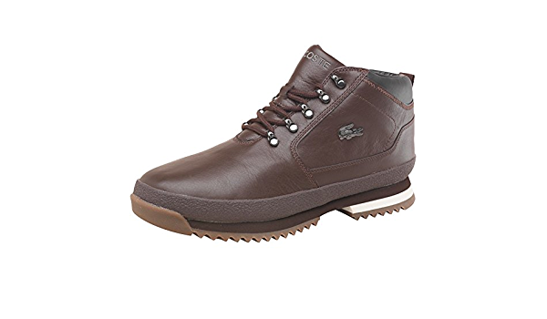 Lacoste Mens Upton Leather Boots Dark