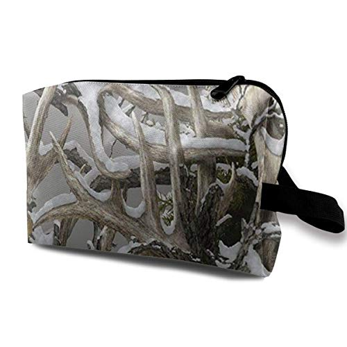 Realtree Camo Wallpapers Portable Travel Makeup Cosmetic Bags Organizer Multifunction Case Toiletry Bags