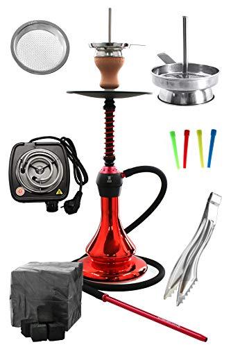 Kaya ELOX Eco 580 Twist Set con Cocina eléctrica carbón de cachimba boquillas Desechables Pinzas gastor...