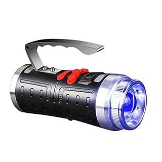 LLSZ Notlaterne AA Car Essentials Leistungsstarke Spot-Taschenlampe mit LED-Campinglaterne für Reisen, Induktionssensor Blaulichtköder wasserdichte IPX6-Nachtnotlaternen, Wandern, Angeln-Blitzlicht