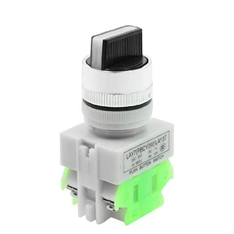 sourcingmap® DPST Rotary Trois Sélecteur de position Interrupteur d'alimentation d'allumage 10A 660V AC