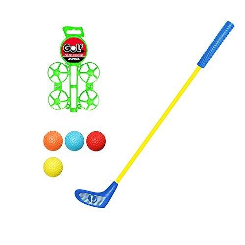 Kinder Golf Set Spielzeug Weihnachten Sport Kinder Golf Spielzeug Set Zubehör für Kinder, 4 Bälle, 1 Golf Club Blau