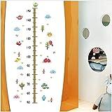 HAJKSDS Bunte Tiere Vögel Höhe Maßnahme Wandaufkleber Für Kinderzimmer Kinder Wachstum Diagramm Schlafzimmer Wandtattoo Poster Wandbild