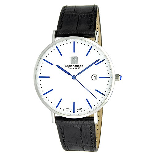 steinhausen-mens-s0520-classic-burgdorf-swiss-quartz-blue-label-watch-with-black-leather-band