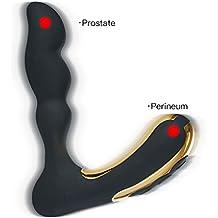 Xoolover Vibrador Próstata Masajeador 10*3 Frecuencia de Impermeable Estimulador Anoles Portátil Vibración Silicona USB Recargable Plug Anal Con Imán de Grado Médico Para Hombre Mujer Pareja