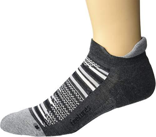 Kissen Tab Socke (Feetures – Elite Max Kissen – No Show Tab – Sportliche Laufsocken für Damen und Herren - Blau - Medium)