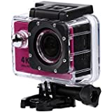 Hot Pink : Kolylong Mini H9 2inch Ultra HD 1080p 4K Sport 170° Wide WiFi Action Camera DV