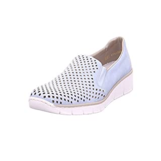 Rieker Punch Womens Casual Slip On Shoes 3.5/36 Sky Nubuck