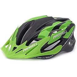 Prowell F59R Vipor - Casco de ciclismo Edge verde negro Talla: M (55cm-61cm)