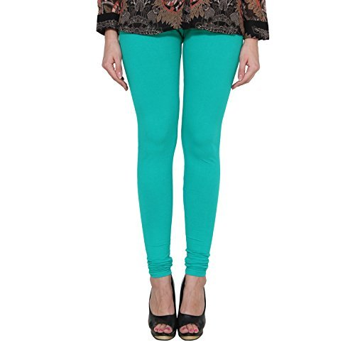 ALISHAH COTTON LYCRA CHURIDAR LEGGINGS FOR WOMENS AND GIRLS CYAN SEA GREEN, Sizes :- XXL  available at amazon for Rs.274