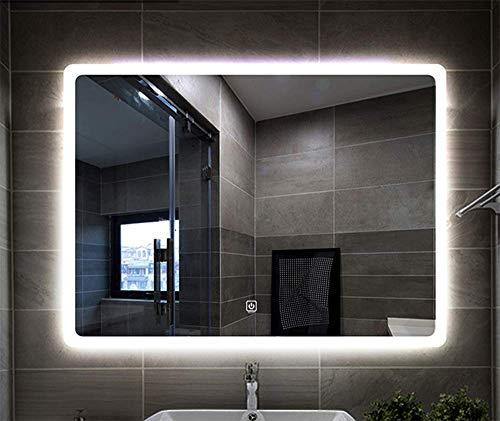 Bathroom Mirror Miroir De Salle Bain Sans CadreLED Le Rectangulaire Mural Anti Buee