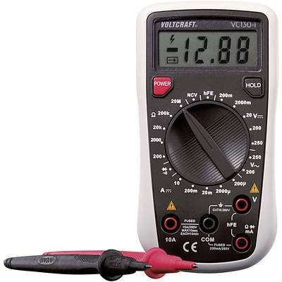 Voltcraft® VC130-1 Cat III Tragbares, digitales Multimeter, 250 V, Anzeige (Counts): 2000