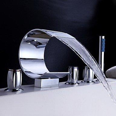 BBO Robinet de baignoire cascade avec douche à main (conception de forme incurvée)
