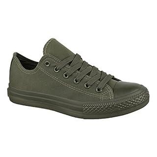 Elara Unisex Sneaker | Bequeme Sportschuhe für Herren und Damen | Low Top Turnschuh Textil Schuhe 36-46 ZY9032-DkGreen-42