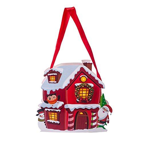 AMUSTER Weihnachtsbaum Ornament Fröhliche Weihnachten Süßigkeitstasche Snackpaket für Kinder Haushalt Garten Home Decor H