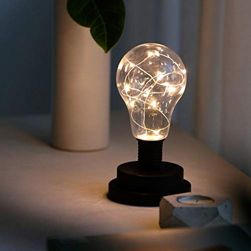 Candeliere in ferro battuto lampada da tavolo in ferro battuto candeliere luce notturna lampadina nera interruttore pulsante USB