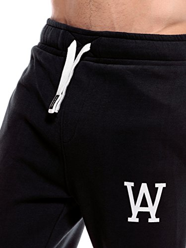 WOLDO Athletic Herren Jogginghose Trainingshose Jogger Black