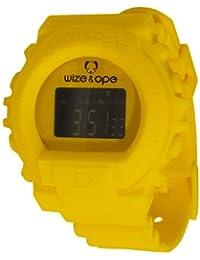 Wize & Ope SKY-23 - Reloj digital de cuarzo unisex, correa de poliuretano color amarillo