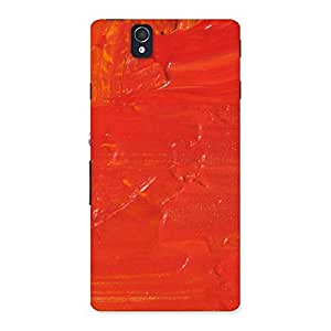 Orange Paint Back Case Cover for Sony Xperia Z