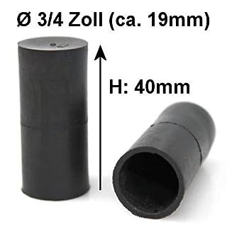 AutoScheich® 3/4 Zoll 19mm Kappe Gummikappe Schutzkappe Blindstopfen Endstück Stopfen Gewinde Schlauch